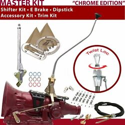 C4 Shifter Kit 23 Swan E Brake Cable Clamp Clevis Trim Kit Dipstick For D1f69