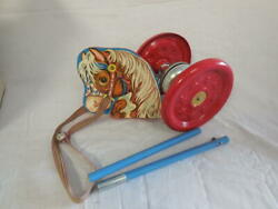 Hobby Chime  Gong Bell Toy  Hobby Horse  Original Box  1950s
