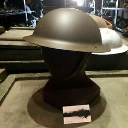 Military Wwii British Uk Army Brodie Steel Helmet With Liner - Tommy Doughboy