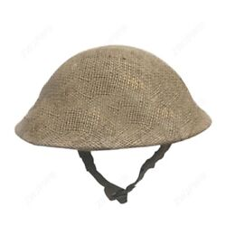 Military Wwii British Uk Army Brodie Tommy Steel Helmet With Protective Cover