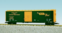 Usa Trains G Scale 50 Ft Single Door Box Car R19312a Chicago And North Wes - Green