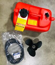 Factory New Evinrude Fuel Tank Fuel Line And Propeller