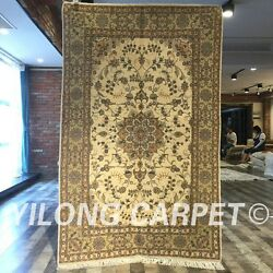 Clearance Yilong 4and039x6and039 Handmade Wool Area Rug Top Blanket Woolen Carpets 2073