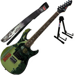 Peavey Walking Dead Michonne Splash Guitar With Walker Strap And Stand