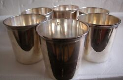 Solid Sterling Silver French Odiot Set Of 6 Hallmarked Fine Cups