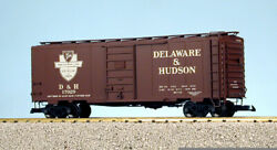 Usa Trains G Scale 6 Ft. Panel Door Ps1 Box Car R19222a Delaware And Hudson - Box