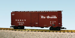 Usa Trains G Scale 6 Ft. Panel Door Ps1 Box Car R19227a D And Rgw - Box Car Red