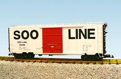 Usa Trains G Scale 8 Ft. Youngstown Dr Ps1 Box Car R19234c Soo Line - White W/re