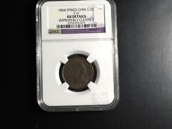 1804 Spiked Chin Half Cent Au Details Ngc
