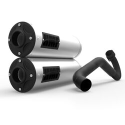 Hmf Titan Exhaust Dual Full System Stainless-steel Can Am Maverick Turbo 15-17