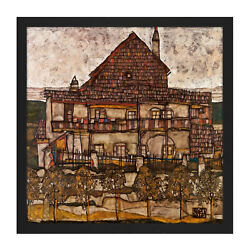 Egon Schiele House With Shingle Roof Old House Ii Cropped Square Framed Wall Art