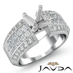 1.46ct. Round And Princess High Quality Diamond Engagement Invisible Setting Ring