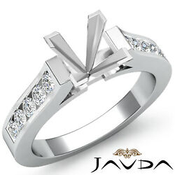 Antique Style Princess Diamond Engagement Ring Channel Setting Semi Mount 0.30ct