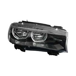 LED Passenger Side Head Lamp Lens & Housing Fits BMW X5: With Factor