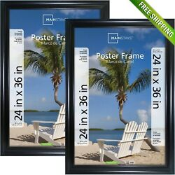 Mainstays 24x36 Wide Black Poster And Picture Frame Set Of 2 Large Wall Decor