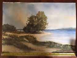 Watercolor Seascape Listed New Jersey Native Henry Martin Gasser - Reduced 3x