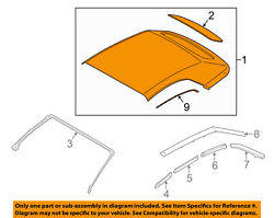 FORD OEM 15-18 Mustang CONVERTIBLE TOP-Cover Assembly FR3Z7652700BH