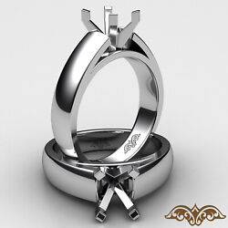 7g. Cathedral 4 Prong Claw Solitaire Engagement Ring Setting 5.5mm. Semi Mount
