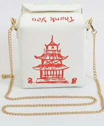 CHINESE TAKE OUT Food Inspired Thank You Clutch BAG CROSSBODY TRENDY NEW COOL $36.99