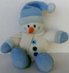 Gund Baby My First Snowman Plush Whimsy Wishes Rattle Toy Carrot Soft Snowflake