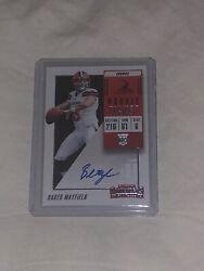 2018 Baker Mayfield Contenders Auto Rookie