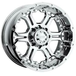 (4) 18x9 Chrome Gear Alloy Recoil 715 5x4.5 10 Nitto Ridge Grappler 33x12.5R18