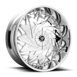 26'' x9 Dub Dazr S235 Chrome Chrome 5x4.5/5x120 25 ET S235269052+25 Rims Wheels