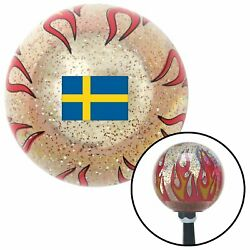 Sweden Clear Flame Metal Flake Shift Knob With M16 X 1.5 Insert Car Accessories