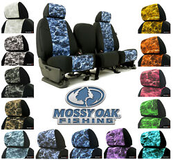 Custom-fit Mossy Oak Elements Seat Covers W/black Sides Fishing Camouflage Camo