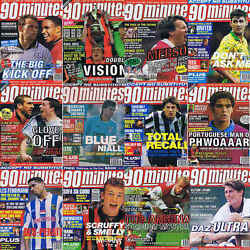 90 Minutes Football Magazine Single Player Picture On The Spot - Various Teams