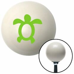 Green Simple Turtle Ivory Shift Knob With 16mm X 1.5 Insert Vintage Rv Wrecker