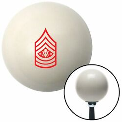Red Sergeant Major Of The Army Ivory Shift Knob With 16mm X 1.5 Insert Parts
