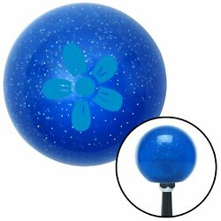 Blue Flower - Daisy Blue Metal Flake Shift Knob Project Accessory Backup Parts