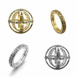 Astronomical Sphere Ball Ring Cosmic Crafted Finger Ring for Couple Lover Gift