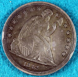 Estate Find 1842 Seated Liberty Dollar C6511