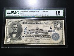 National Bank Note Coatesville Pennsylvania Pmg15 Net Very Rare 11 Large Notes