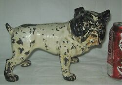 Antique Hubley Toy Co Usa Cast Iron English Bulldog Art Statue Dog Door Doorstop