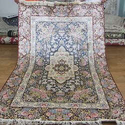 Yilong 5'x8' Top Quality Traditional Pattern Carpets Hand Knotted Silk Rugs 270D