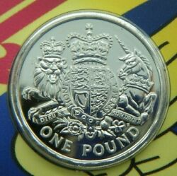 2015 Uk Andpound1 1 Pound Brilliant Unc Coin - The Royal Arms A Heraldic Celebration