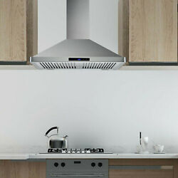 30 Inch Wall Mount Stainless Steel Range Hood Kitchen Vent Touch Control 700 Cfm