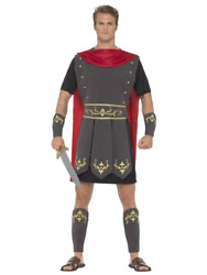 Roman Gladiator Soldier Medieval Costume Legends And Myths Fancy Dress Outfit