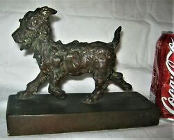 ANTIQUE E.B. PARSONS GORHAM BRONZE TERRIER DOG ART DECO STATUE SCULPTURE BOOKEND