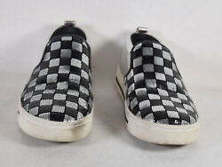 Marc Jacobs Womens Mercer Black Silver Checkerboard Sequins Sneaker 36