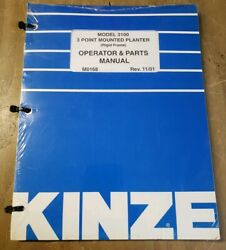 Kinze 3100 3 Pt Mounted Rigid Frame Planter Operator And Parts Manual 1j-2403-x21