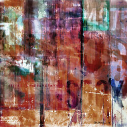 Mixed Media Abstract Digital Print On Canvas With Acrylic Resin Sand 1x1m