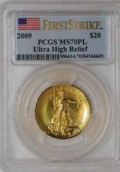 2009 $20 Ultra High Relief First Strike #935975-8 MS70 PL PCGS