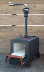 Gas Propane Blacksmith And Knifemaking Forge Made By Burncraft With Sliding Supp