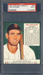 1952 Red Man Tobacco #23 Ted Williams PSA 7 Boston Red Sox HOF