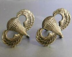 World War Ii Sterling Earrings From First Us Paratrooper Bride 517th