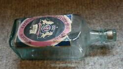 Rare Antique Early 1900's Ingleside Gin Bottle With Glass Stopper